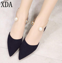 XDA 2017 Spring Autumn Women Shoes Pointed Toe Slip-On Flat Shoes Woman Comfortable Single shoes Casual Flats Size 35-39 X607
