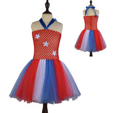 July the 4th Girls Patriotic Tutu Dress Children Clothing Baby Kids Cartoon Costume For Photo/cosplay Girl Summer Dresses