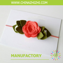 Hair accessory supplier felt hair bands with flower(China)