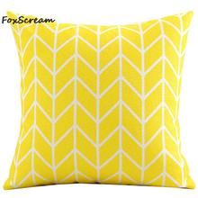 Nordic Style cushions cover red yellow geometric decorative throw pillows covers plaid Cushion Cover Home Decor for sofa
