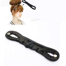 1pcs Women Hairdisk Hair Device Donut Messy Bun Updo Hair Accessories Styling Tools Hair Styling Clip Black Ring High Quality