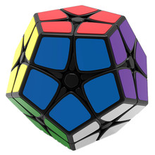 2X2 Megaminx Brain Teaser Magic Cube Speed Twisty Puzzle Toy - Black