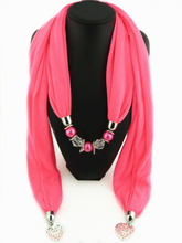 Elegant Women Ladies Girls Necklace Scarves Pendant Jewelry Tassels Scarf Shawl