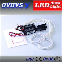 OVOVS cheap round hot sale CCFL angel eyes 12v 3.5w car angel eyes 4*80mm with one year warranty(China)