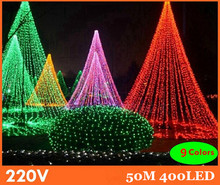 50m 9 colors led string light 400leds wedding partying xmas christmas tree decoration lights,led christmas light