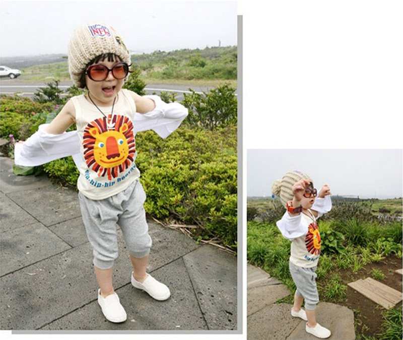 New 2017 Summer Clothing Sets Baby Boy Cartoon Lion T-Shirt+Kids Pants Clothing Boys Set Children Suits roupas infantis menino<br><br>Aliexpress