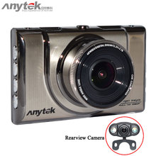 100% Original Anytek A100H Dual Cammera Car DVR with NTK96655 CPU 1080P with Rear View 720P Car Video Recorder