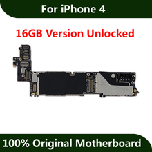 For iPhone 4 Motherboard 16GB 100% Original Unlocked Mainboard Good Working With Full Chips IOS Installed Logic Board(China)