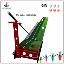 Wood Indoor and Outdoor Golf Putting Trainer Professional Practice Set Training Mat Mini Golf Putter Green with Fairway(China)
