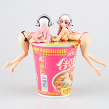 Super Sonico Bikini Swimsuit Ver Sexy SM Girl Instant Noodles Cup Noodles Pressure Lid 16cm Toy PVC Action Figure Model Gift(China)