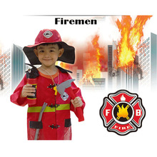 Milankerr Hight Quliaty Kids Cosplay Sam Fireman Costume Child Halloween Firefighter Christmas Fancy Party Wear Cosplay Fireman(China)