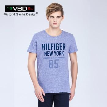 VSD 2017 D'été Thrasher Vlone Camisa Sociale Masculina Coton Hommes T-shirt Slim Fit Manches Courtes Rashguar Célèbre Hommes de Homme Y7051