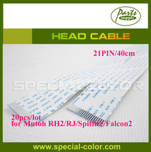 20pcs/lot Mutoh RH2/Falcon2/Spitfire Series Printer Head Cable for DX4 Solvent printhead (21PINS,40cm)