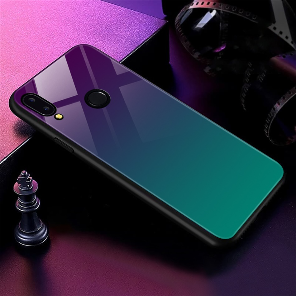 Gradient Glass Back Case For Huawei P20 Lite P Smart Plus Nova 3i Case Luxury Silicone Case For Huawei Honor 10 9 Lite 8X Coque (16)