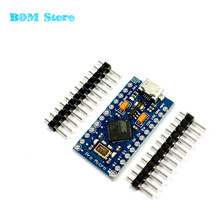 Free Shipping New Pro Micro for arduino ATmega32U4 5V/16MHz Module with 2 row pin header For Leonardo in stock . best quality