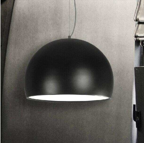 pendant light aluminum semicircle pendant lights half ball classic black dinning room restaurants pendant lamps modern<br>