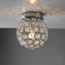 Luxury Ball Modern LED Ceiling Light With K9 Crystal Decorative Mounted Lamp For Living Room Home Decoration G9 110V/220V WCL012