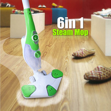 220V 6-in-1 multi-purpose  household steam mop sterilization steam cleaning machine quick steam retractable sweeping