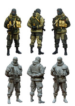 [tuskmodel] 1 35 scale resin model figures kit Modern Russian Soldiers e4