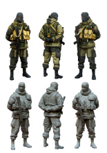 [tuskmodel] 1 35 scale resin model figures kit Modern Russian Soldiers e4(China)