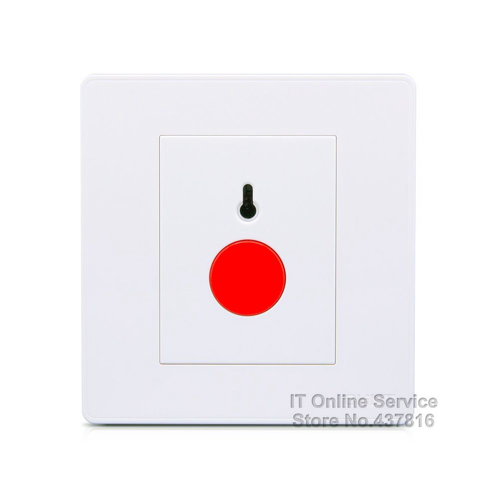 High Quality 2017 NEW2D Red Alarm Wall Switch Elegant Ivory White Large Panel Wall Switch<br><br>Aliexpress