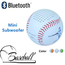 Baseball real size Mini Subwoofer Bluetooth Speaker Strong Bass three color 600mAh battery portabel home theater phone audio