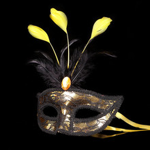 XUNZHE 2017 New Feather Mask Fashion Women Sexy Half Face Masked party mask venetian masquerade gift halloween decoration