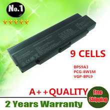 Wholesale New 9cells laptop battery FOR SONY  VGP-BPS9B 53DB FIT MODEL FOR VAIO VGN-AR VGN-CR VGN-NR VGN-SZ SERIES