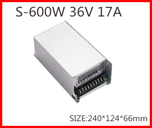 600W 36V 17A  Single Output Switching power supply for LED Strip light  AC-DC S-600-36<br>