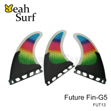 Future Surf board Fin, Rainbow Carbon fin, M Size Fin for Sales, Free shipping