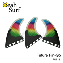 Future/FCS Fin G5 Surf board Fin, Rainbow Carbon Fibreglass fin, M Size Fin for Sales, Free shipping prancha quilhas de(China)
