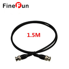 FineFun 1.5M(3.28ft) Q9 Coaxial Extention Cable BNC Male to BNC Male For CCTV Camera cctv Accessories Video Cables