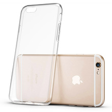 Ultra Thin Phone Case for iPhone 5 5s SE 5C 6 6S 7 Plus 6plus 7plus Clear Trasparent Silicon Back Cover Protective Shell Cell