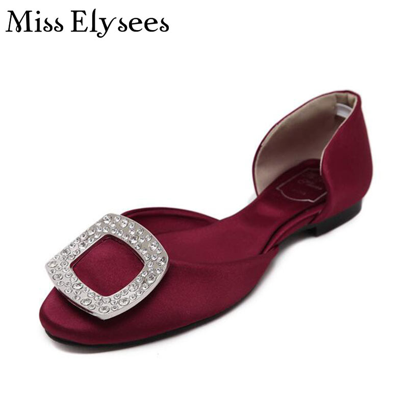 2017 Spring Summer Ladies Shoes Flats Crystal Handmade Womens Leisure Shoes Luxury Design Fashion Woman Flat Plus Size 35-43<br><br>Aliexpress