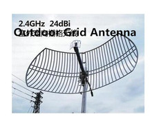2.4G directional high gain 24dBi grid antenna 2.4g wireless router outdoor remote AP project antenna
