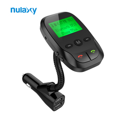 Nulaxy BF18 Bluetooth FM Transmitter HandsFree FM Modulator Wireless Car MP3 Player Support TF Card Flash Drive With USB Charger(China)