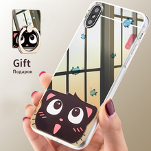 Asina Slim Mirror TPU Cases For iPhone X Cute Cartoon Patterned Case Mirror With Ring Holder Cover For iPhoneX Screen Protector(China)