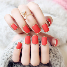 Red Sex Metallic False Nails 3 Sets/lot Bride Acrylic Nail Tips Full French Nail Tips New Fake Nails Art Tips Free Glue Manicure
