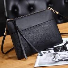 015f1255af Coofit Women s Clutch Bag Simple Black Leather Crossbody Bags Enveloped  Shaped Small Messenger Shoulder Bags Big Sale Female Bag