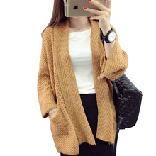 Autumn Winter Knitted Cardigan Women Sweater Jacket 2017 New European American Wind Fashion Was thin Loose Sweater Woman BL319 H