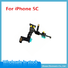 MXHOBIC 10pcs/lot High Quality Front Camera with Proximity Light Sensor Flex Cable for iPhone 5C free shipping