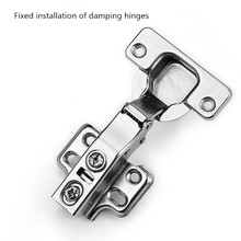 Free shipping damping hydraulic buffering hinge spring hinge cabinet fixed plane pipe hinge C85