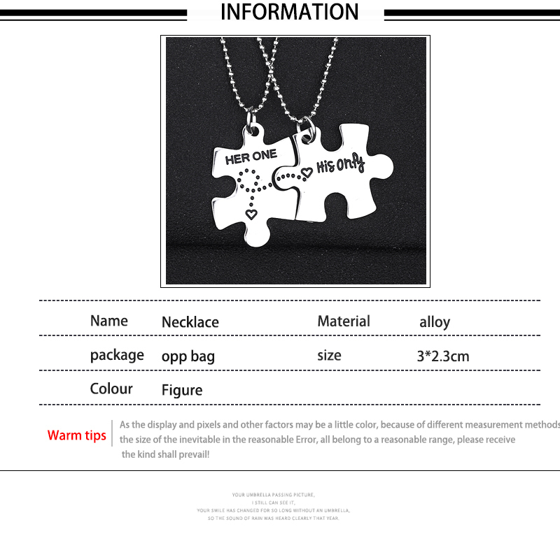 Jigsaw Pieces BFF Necklaces For 2