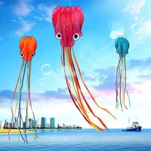 4m 3D Octopus Kite Toy Single Line Stunt /Software Kite Outdoor Sport Cartoon Octopuses Flying Kites Easy to Fly