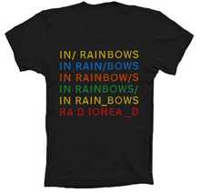 2017 Hot Sale Fashion New Mens Rock Band RadioHead In RainBows T Shirt Custom Personalized Short Sleeve Summer Top Design Cotton