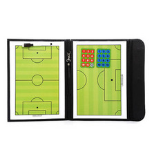 Portable Trainning Assisitant Equipments Football Soccer Tactical Board  2.5 Fold Leather Useful Teaching Board  B2Cshop