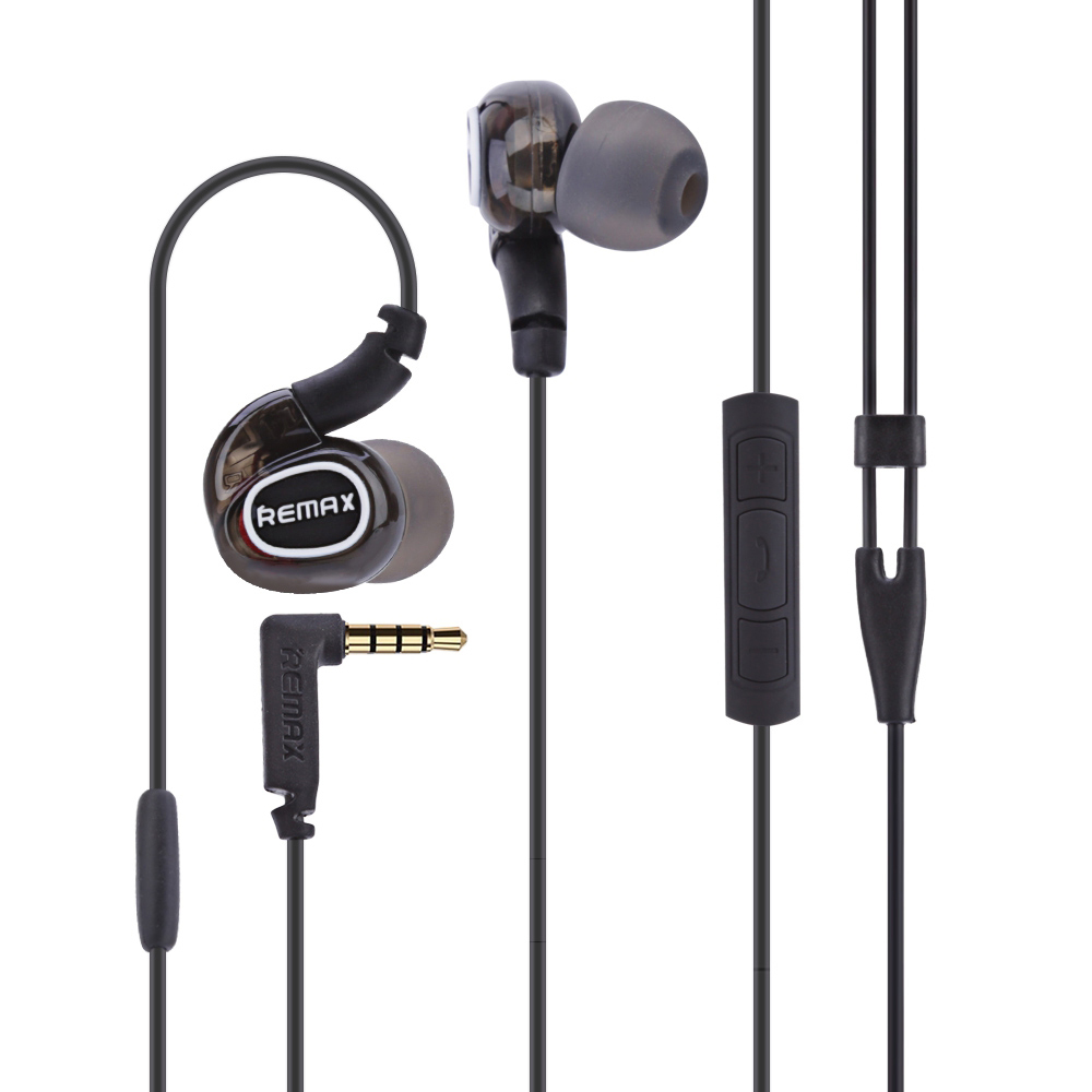 Remax RM-S1 Pro Sports In-Ear EarHook wired Portable Headset Earphone 3.5mm with Line Control box for Samsung iPhone Huawei<br><br>Aliexpress
