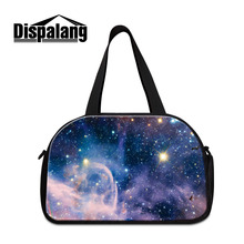 Dispalang Large Men's Luggage Travel Bags Glaxary Universe Gym Bag Women Zipped Outdoor Shoulder Handbag Cool Fitness Bag