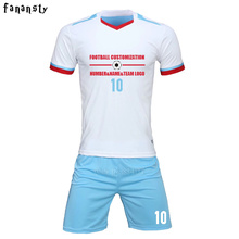 High quality soccer uniform set soccer set man customized football jerseys team youth survetement football kits 2017 2018 new(China)