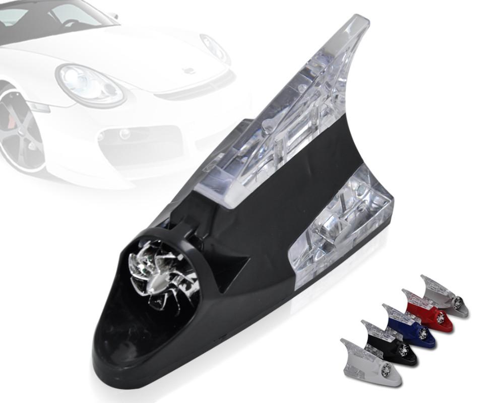 beler Car Auto Wind Power LED Light Shark Fin Antenna Warning Flash Lamp  Decoration for VW Audi Toyota YARIS Audi A8 BMW dc0881ac1e